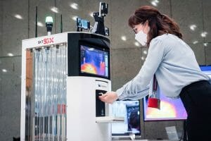 SK Telecom 5G based robot for covid
